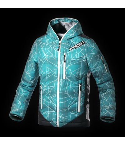 ENERGIAPURA GEOMETRICAL JACKET L Y767 water green/optical white