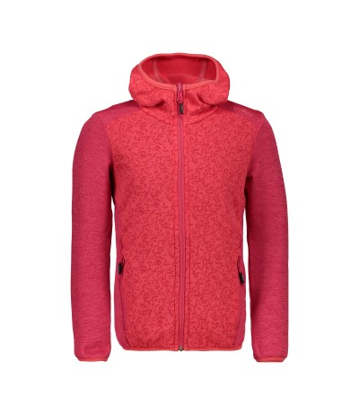 CMP GIRL JACKET FIX HOOD C712 corallo