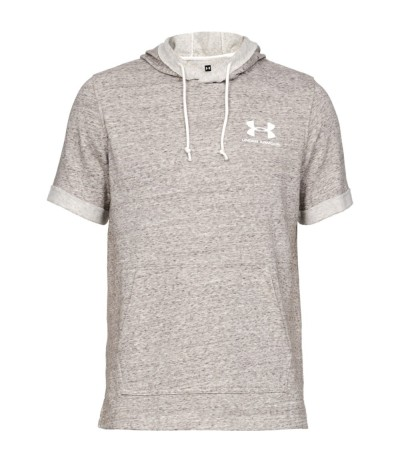 UNDER ARMOUR SPORTSTYLE TERRY SS HOODY onyx white
