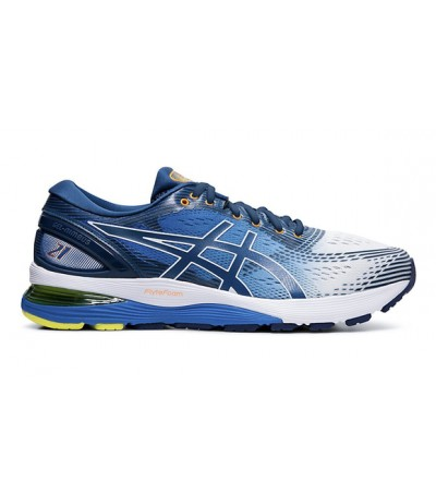 ASICS GEL NIMBUS 21 UOMO white/lake drive