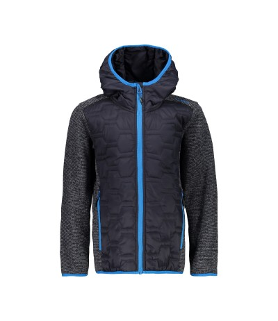 CMP BOY JACKET FIX HOOD HYBRID antracite