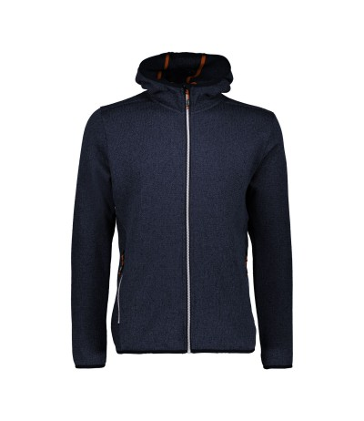 CMP MAN JACKET PILE FIX HOOD blkack blue