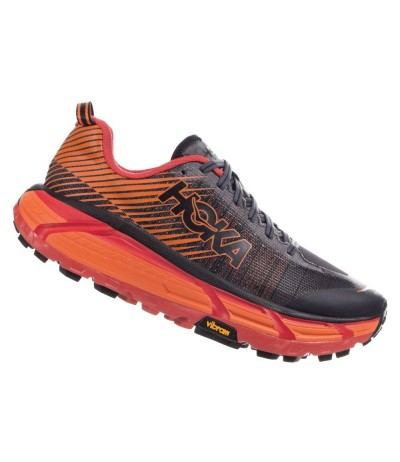 HOKA EVO MAFATE 2 MEN'S black/poppy red