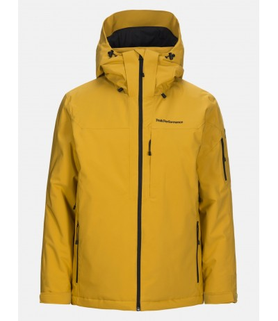 PEAK PERFORMANCE MAROON JACKET yellow fluo