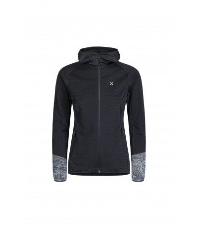 FIT WALKING HOODY MAGLIA WOMAN nero/fantasia 13