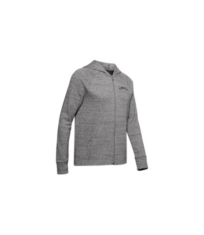 UNDER ARMOUR RIVAL TERRY FZ HOODIE DONNA gray