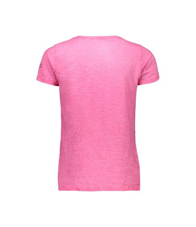 116 CMP T-Shirt Dry Function 38t6385 Antracite-Bouganville Bambina