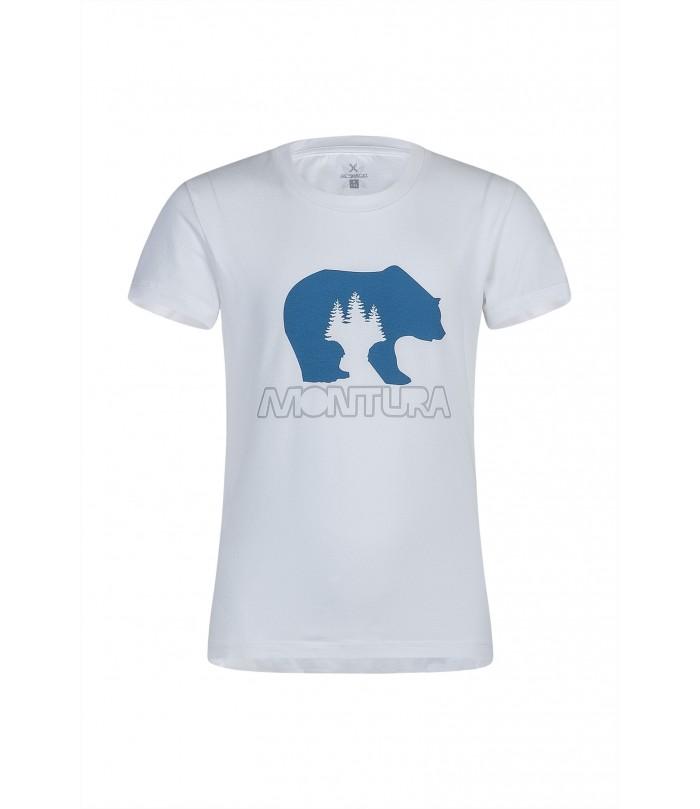 MONTURA BEAR T-SHIRT KID 0083 bianco/blu ottanio