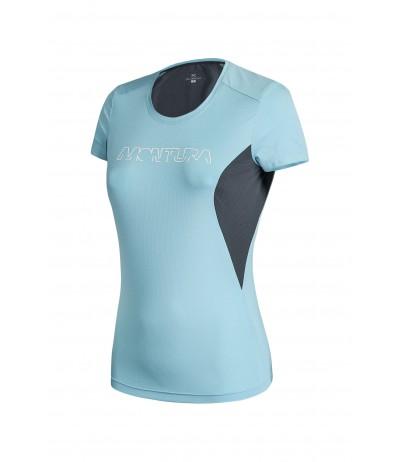 MONTURA RUN LOGO T-SHIRT WOMAN 2993 ice blue/piombo