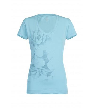 MONTURA ROMANCE T-SHIRT WOMAN 2900 ice blue/bianco