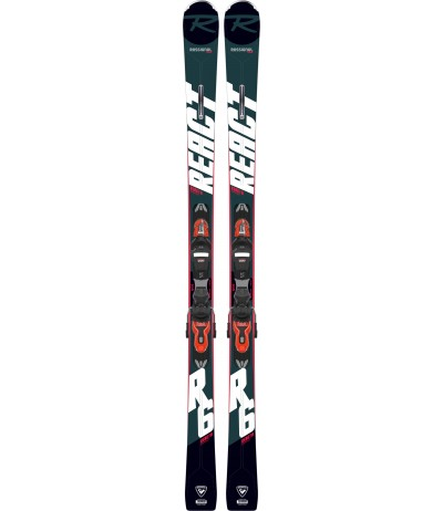 ROSSIGNOL REACT 6 COMPACT + XP 11 black/hot red