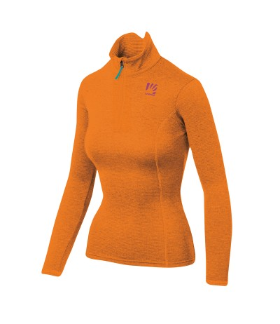 KARPOS PIZZOCCO HALF ZIP WOMAN 840 persimmon orange