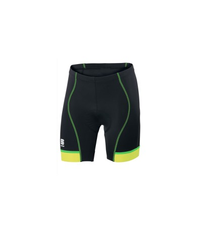 SPORTFUL GIRO 2 SHORT 24 cm UOMO blk yellow fluo/green fluo