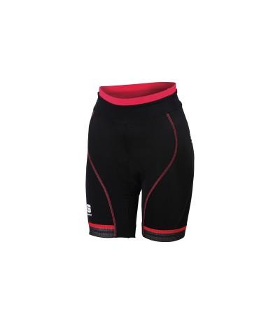 SPORTFUL GIRO W SHORTPANTALONCINO CICLO DONNA black/pink coral