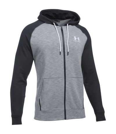 UNDER ARMOUR FELPA F/Z UOMO 1290255 0035 stl/blk/wht
