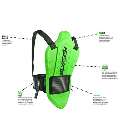 SLYTEC VEST BACKPRO ONE MINI YUNIOR green
