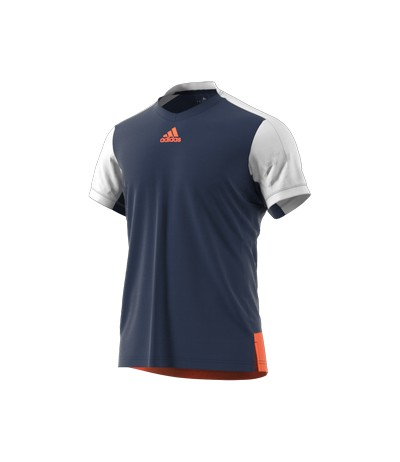 ADIDAS MELBOURNE LINE TEE mystery blue/glow orange