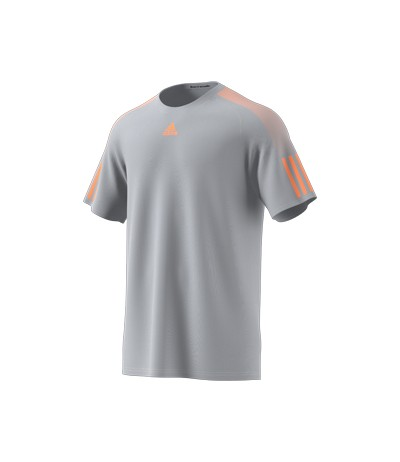 ADIDAS BARRICADE TEE M. clear onix/glow orange
