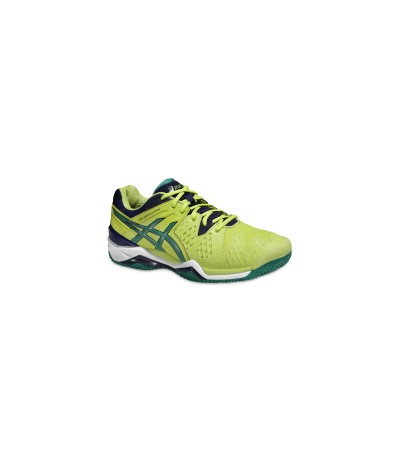 ASICS GEL RESOLUTION 6 CLAY lime/pine/ind.blue SUOLACLAY - UOMO