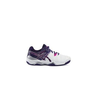 ASICS GEL RESOLUTION 6 W CLAY wht/p.purp/hot pink SUOLA CLAY - DONNA