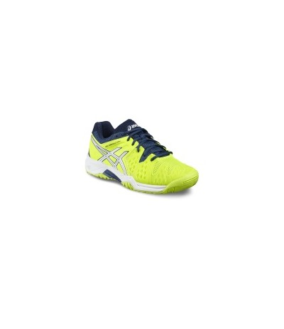 ASICS GEL RESOLUTION 6 GS saf.yellow/wht/poseidon SUOLA MULTISUPERFICIE - JUNIOR