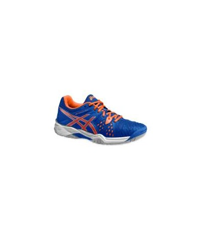 ASICS GEL RESOLUTION JR blu/fl. orange SUOLA MULTISUPERFICIE - JUNIOR