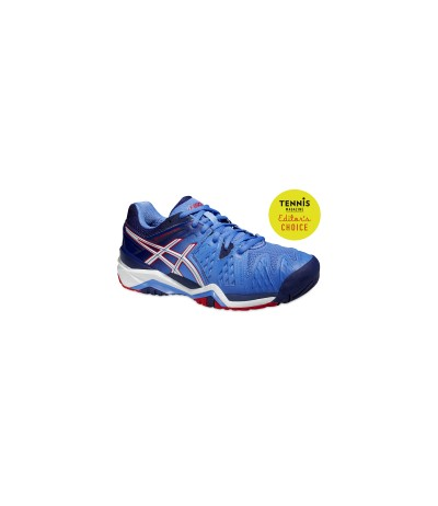 ASICS GEL RESOLUTION powd/wht/hibisc SUOLA MULTISUPRFICIE - DONNA