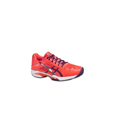 ASICS GEL SOLUTION SPEED 3 CLAY coral/plum/flash coral SUOLA CLAY - DONNA