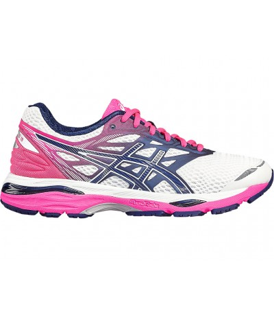 ASICS GEL CUMULUS 18 white/indigo blue/hot pink
