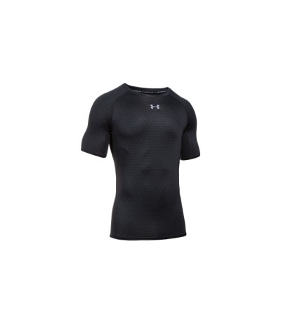 UNDER ARMOUR UA HG ARMOUR PRINTED SS blk/gph