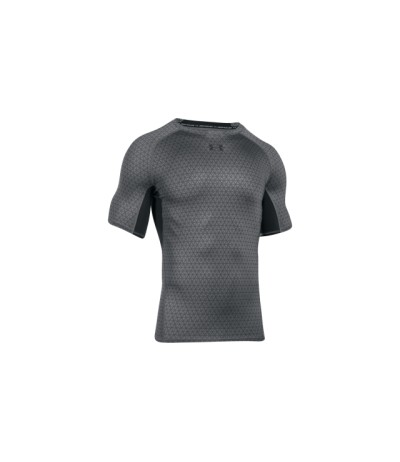 UNDER ARMOUR UA HG ARMOUR PRINTED SS gph/blk