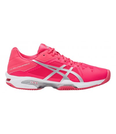 ASICS GEL SOLUTION SPEED 3 CLAY roge red/silver/white