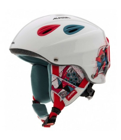 ALPINA CASCO GRAP JR 09 wht/red/green