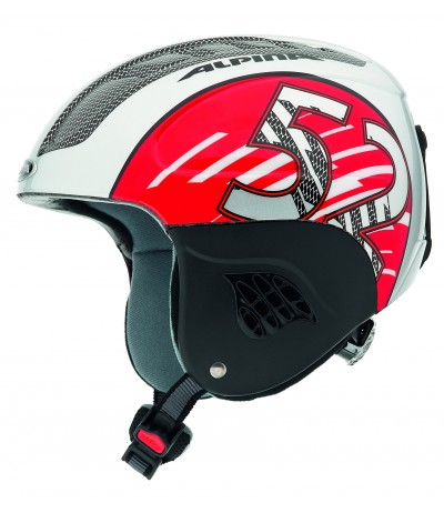 ALPINA CASCO CARAT gun/red