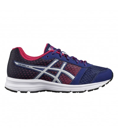 ASICS PATRIOT 9 GS indigo blue/silver/fuchsia purpple