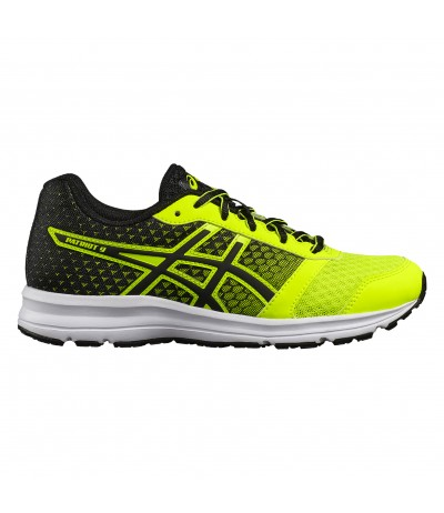 ASICS PATRIOT 9 GS safety yellow/blk/wht