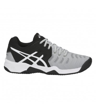 ASICS GEL RESOLUTION 7 CLAY GS mid grey/black/white