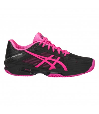 ASICS GEL SOLUTION SPEED 3 CLAY WOMAN blk/hot pink/silver