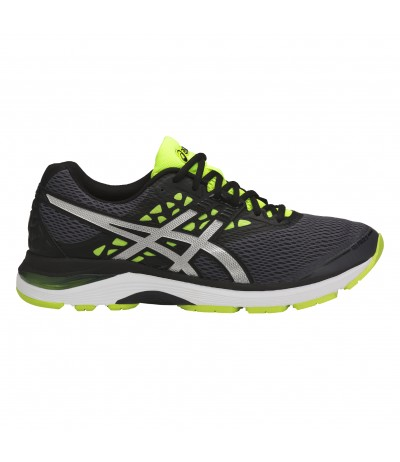 ASICS GEL PULSE 9 carbon/silver/safety yellow