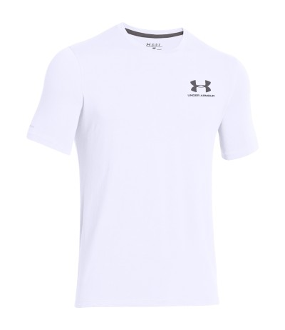 UNDER ARMOUR CC LEFT CHEST LOCKUP wht/gph
