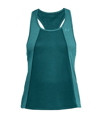 UNDER ARMOUR THREADBORNE FASHION TANK ttl/ttl/eal