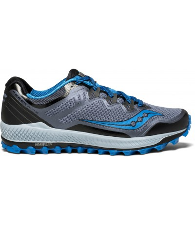 SAUCONY PEREGRINE 8 UOMO black/grey/blue