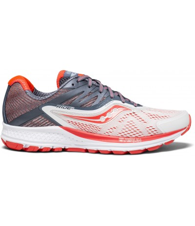SAUCONY RIDE 10 WOMAN fog/vizi red