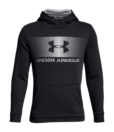 UNDER ARMOUR CTN FRENCH TERRY HOODY JR blk/wht