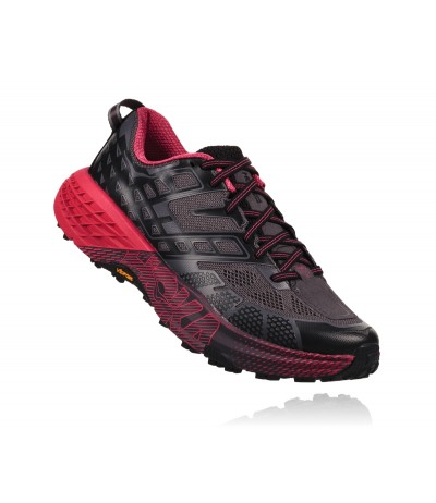 HOKA SPEEDGOAT 2 WOMEN'S black/azalea