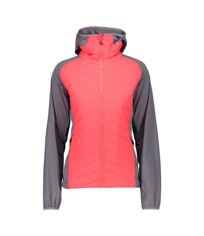 CMP WOMEN FIX HOOD JKT L649 red fluo