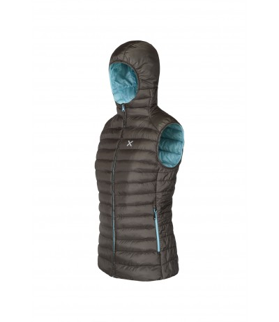 MONTURA MUST HOODY VEST WOMAN 3229 marrone/ice blue