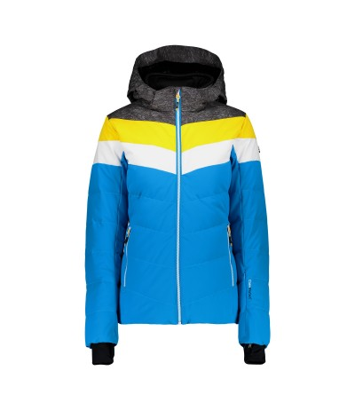 CMP WOMAN JACKET ZIP HOOD M713 blue jewel