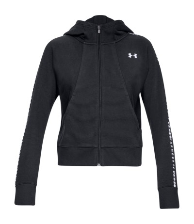 UNDER ARMOUR OTTOMAN FLEECE FULL ZIP 0001 black/white